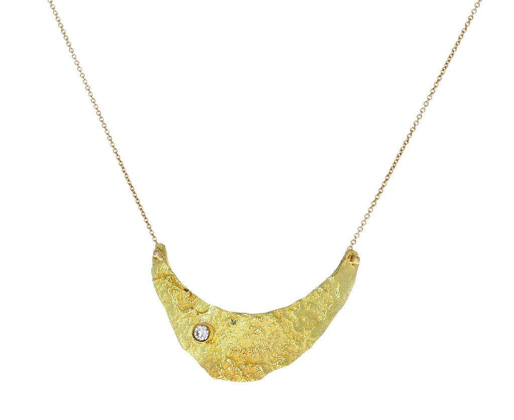 Gold and Diamond Letting Go Pendant Necklace