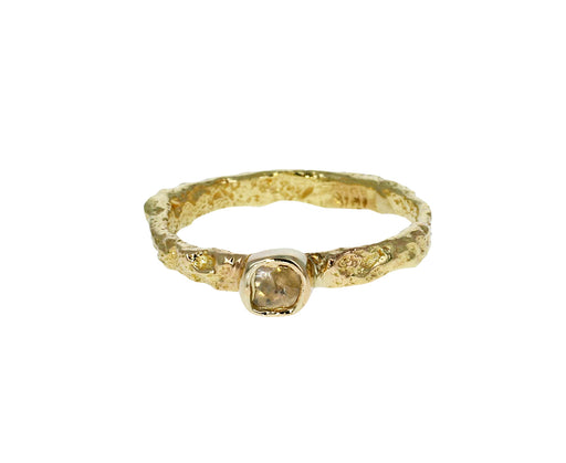 Gold and Diamond Letting Go Ring - TWISTonline