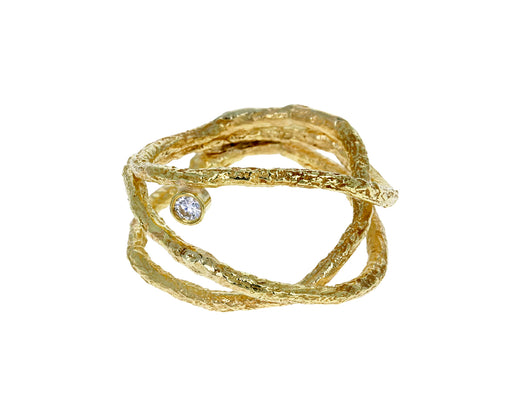 Gold and Diamond Letting Go Ring