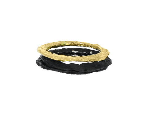 Silver and Gold Stacked Respiro Ring