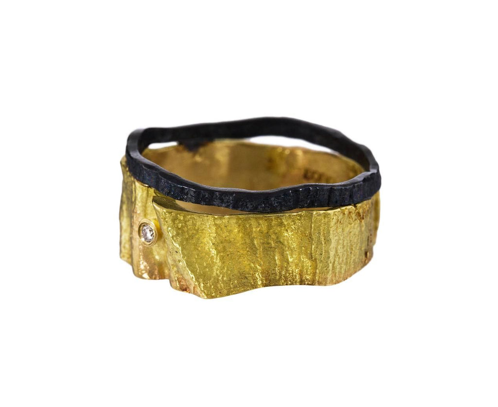 Gold and Oxidized Silver Band - TWISTonline