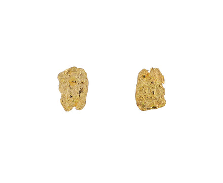 Gold Cuore Aperto Stud Earrings