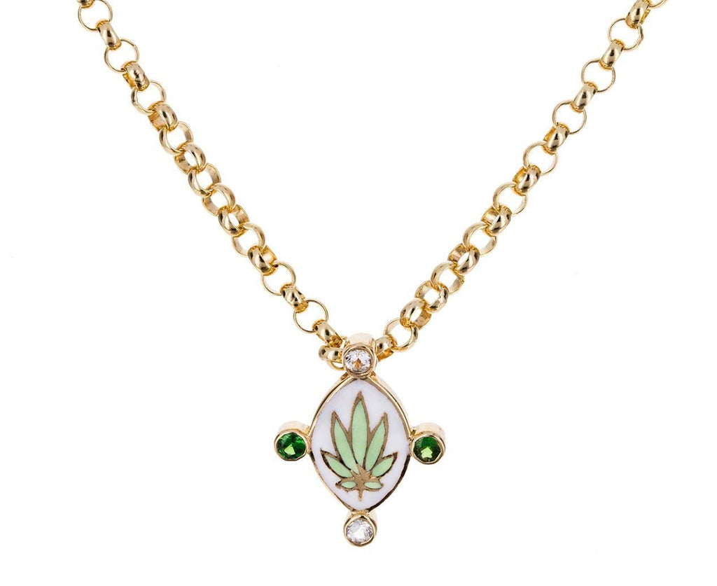 Go Lightly Weed Shield Pendant Necklace - TWISTonline