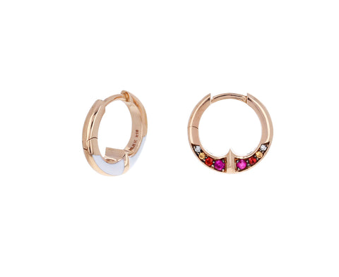 Sapphire Anther Hoops