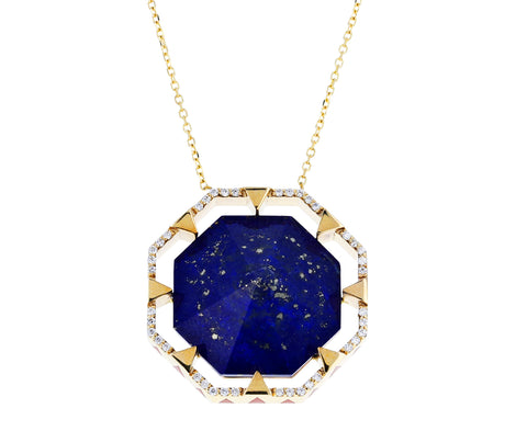 Lapis Octagon Pendant Necklace - TWISTonline