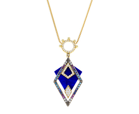 Balanced Variations Lapis Pendant Necklace - TWISTonline
