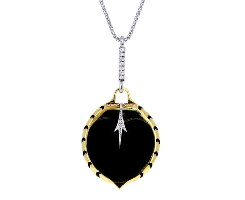 Dark Radiation Enamel Pendant Necklace - TWISTonline