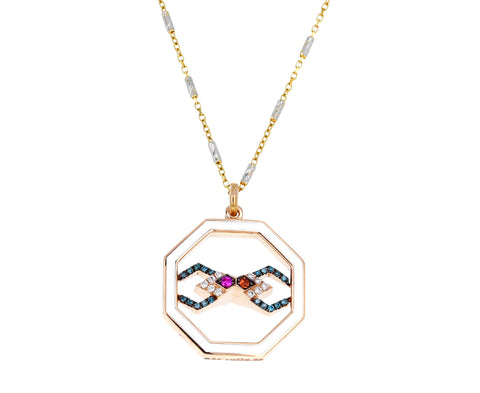 Golden Drops Mixed Gem Necklace - TWISTonline