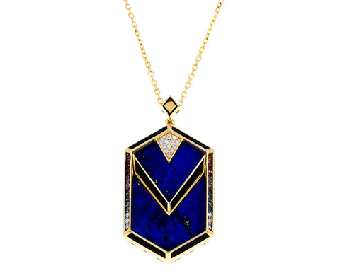 Orphic Lapis Pendant Necklace - TWISTonline