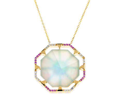 Opal Octagon Pendant Necklace - TWISTonline