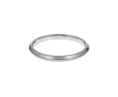 Beveled Platinum Rose Band - TWISTonline