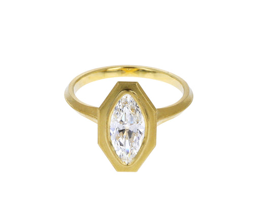 Jin Bezel Diamond Solitaire Ring