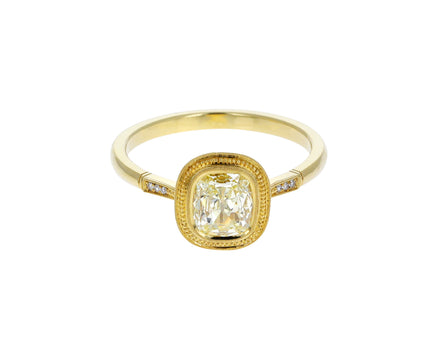 Mariana Bead Halo Diamond Solitiare