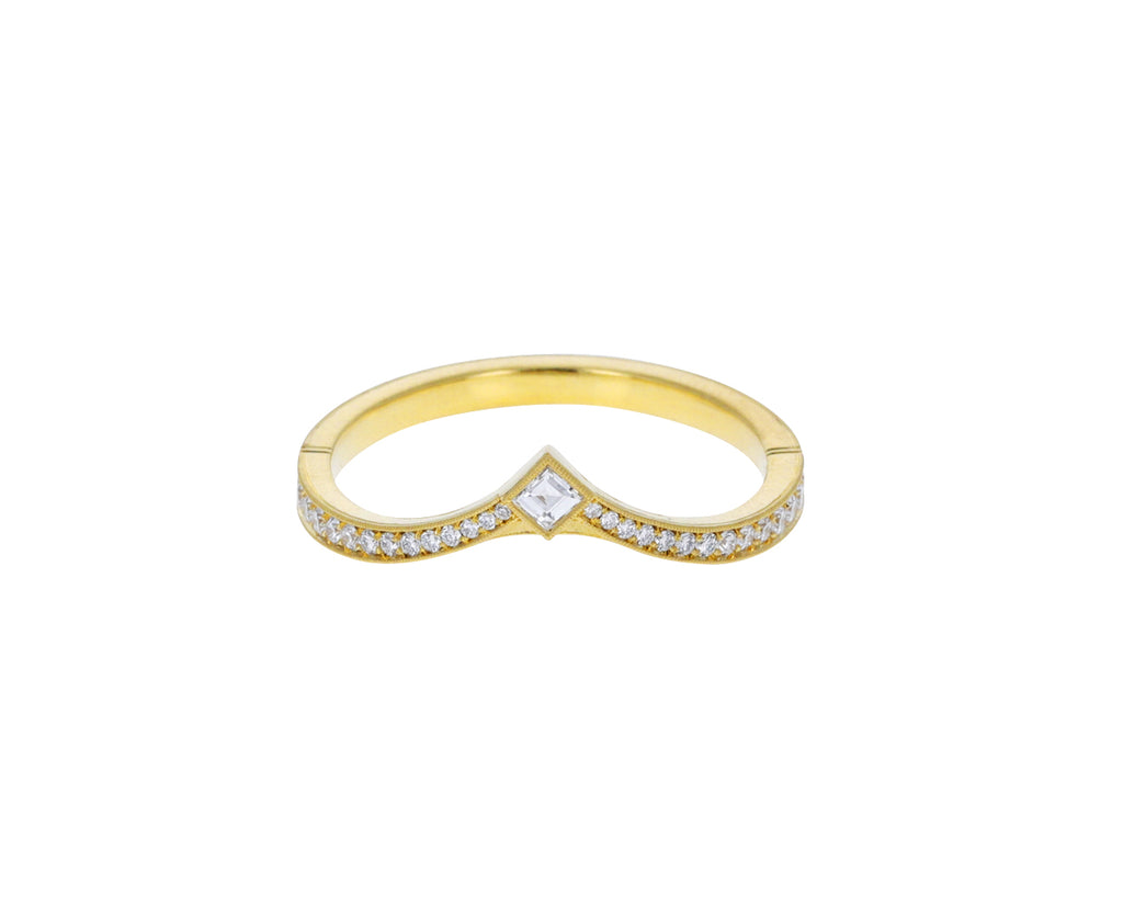 Gold Twyla Countour Diamond Band