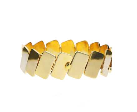 Gold Slanted Brick Bracelet