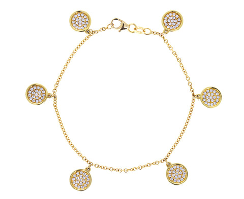 Diamond Mini Circle Charm Bracelet