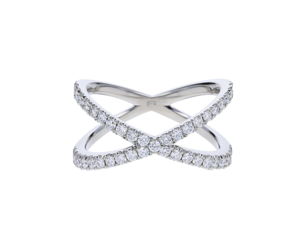 Platinum Diamond Shorty Ring