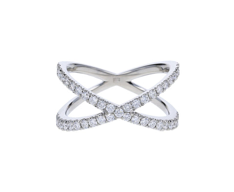 Platinum Diamond Shorty Ring - TWISTonline