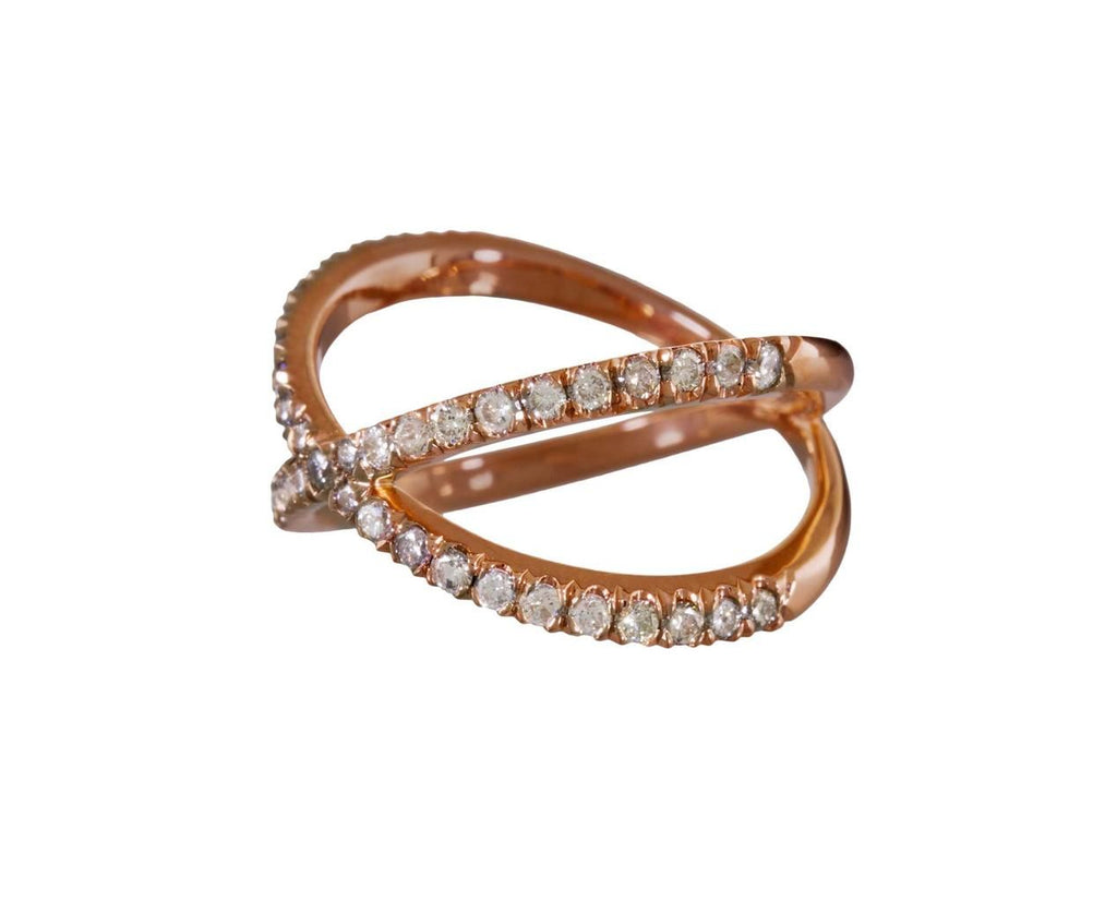 Rose Gold Shorty X Ring - TWISTonline