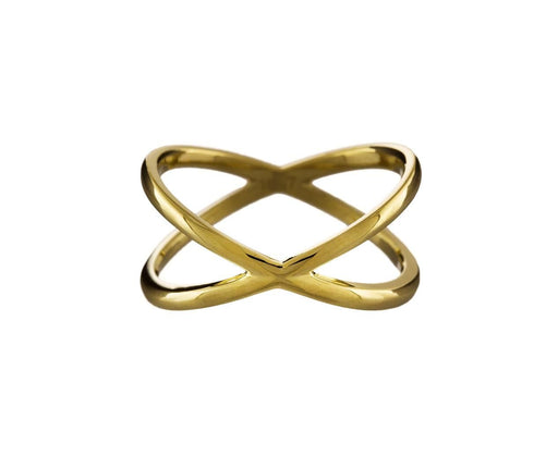Yellow Gold Shorty X Ring - TWISTonline