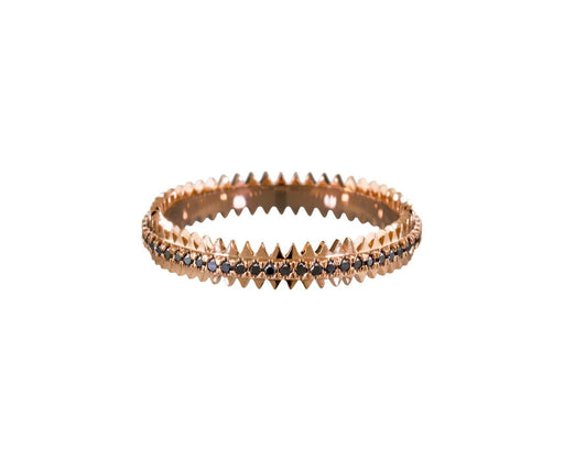 Black Diamond Rose Gold Zipper Ring - TWISTonline