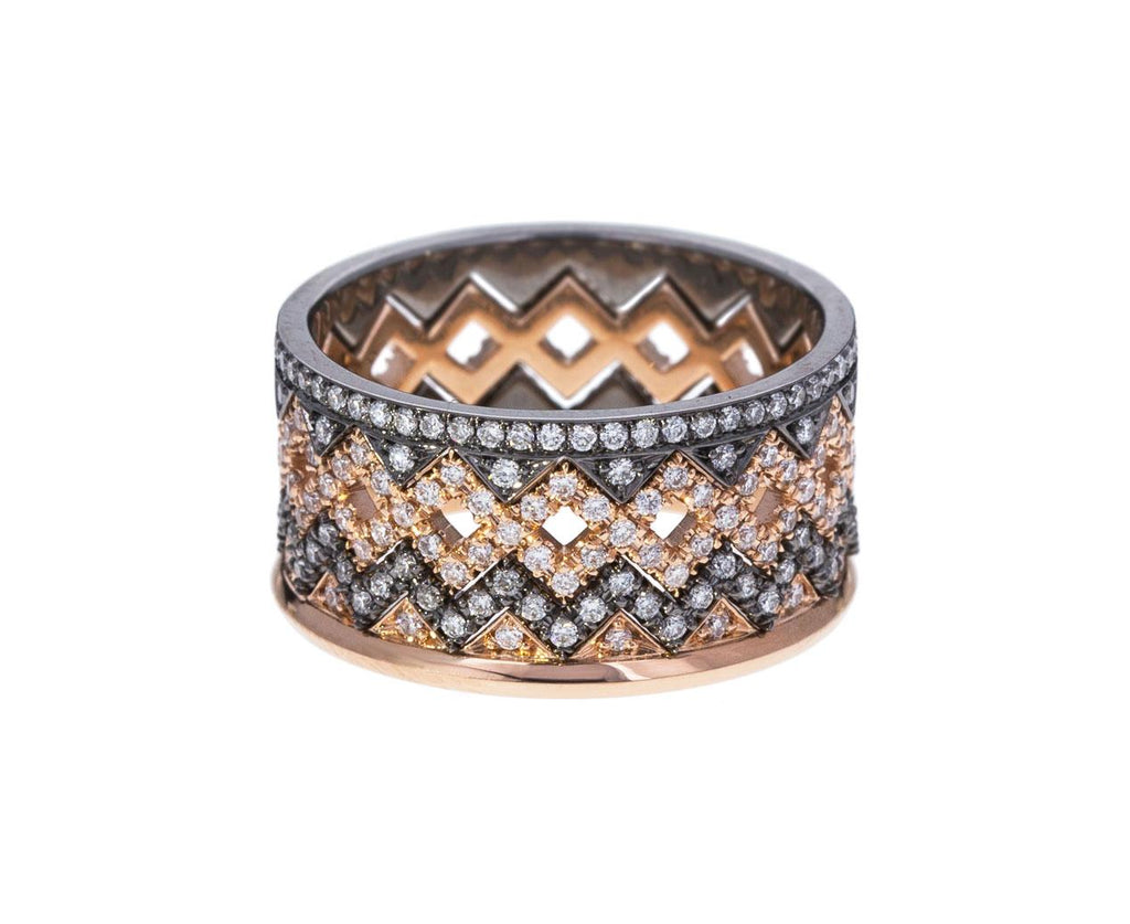 Rose Gold Diamond Crown Band - TWISTonline