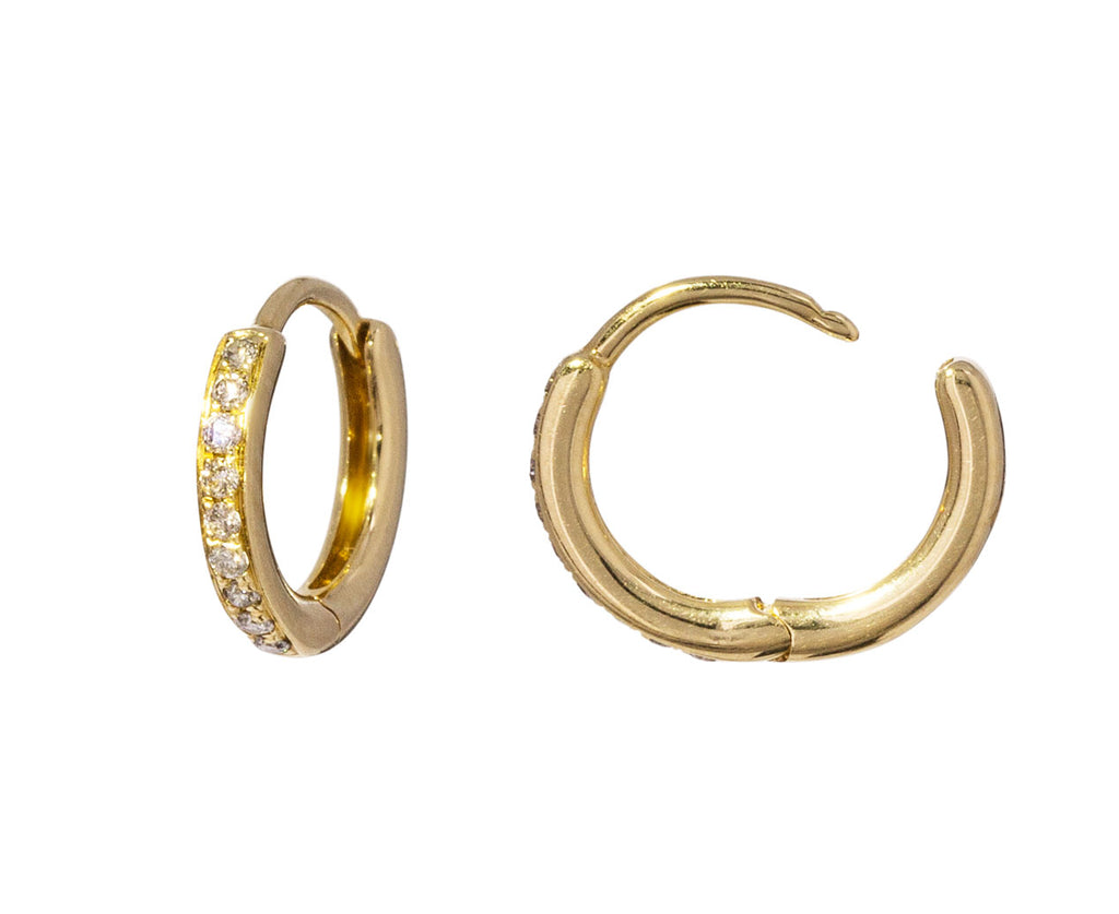 Champagne Diamond Huggie Hoops - TWISTonline