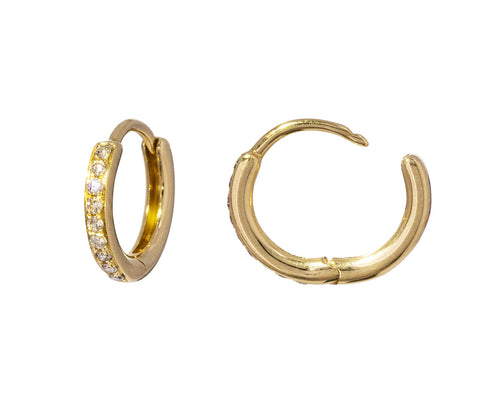 Champagne Diamond Huggie Hoops