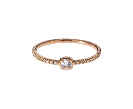 Small Inverted Champagne Diamond Solitaire - TWISTonline
