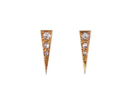 Saber Studs with Champagne Diamonds - TWISTonline