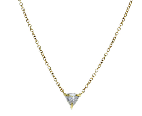 Inverted Trillion Diamond Necklace