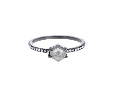 Eva Fahren Nazca Hexagonal Gray Diamond Solitaire