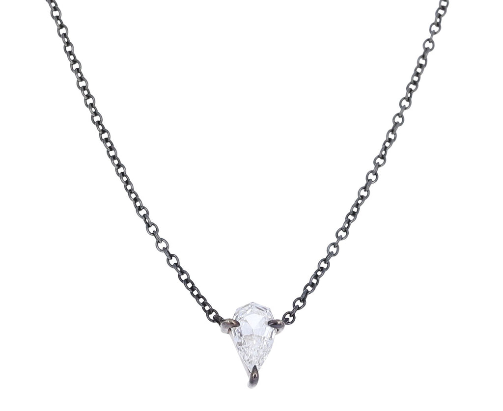 Brilliant Cut Pear Shaped Diamond Pendant Necklace