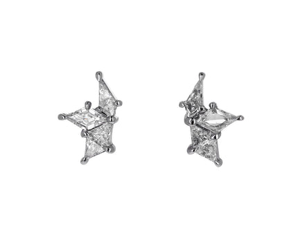 Diamond Nova Fracture Stud Earrings