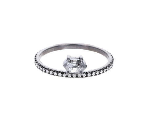 Offset Hexagonal Gray Diamond Solitaire