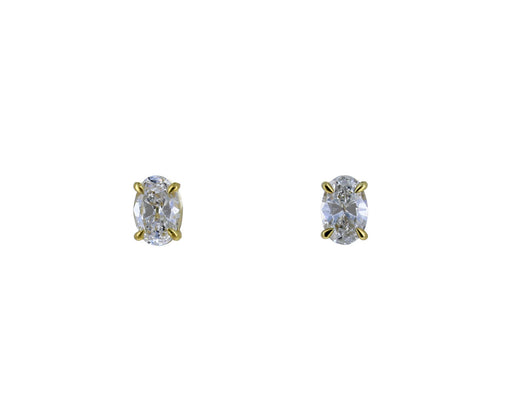 Oval Diamond Stud Earrings - TWISTonline