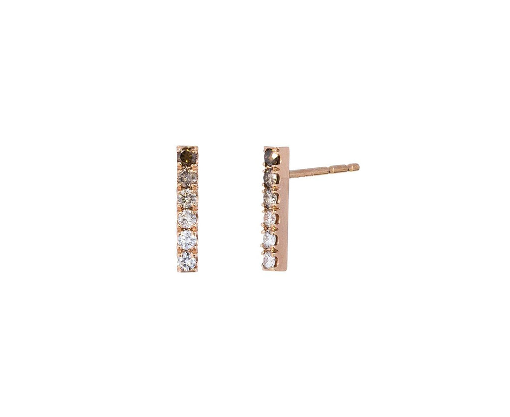 Ombre Diamond Staple Earrings zoom 1_eva_fehren_gold_ombre_champagne_diamond_earrings