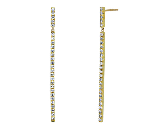 White Diamond Line Earrings - TWISTonline