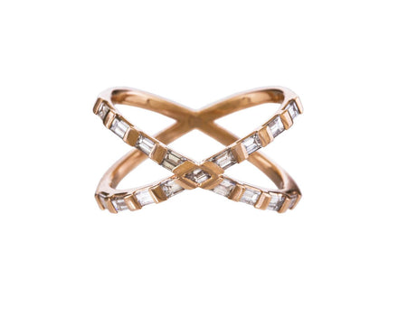 Rose Gold Diamond Tetra Shorty Ring - TWISTonline