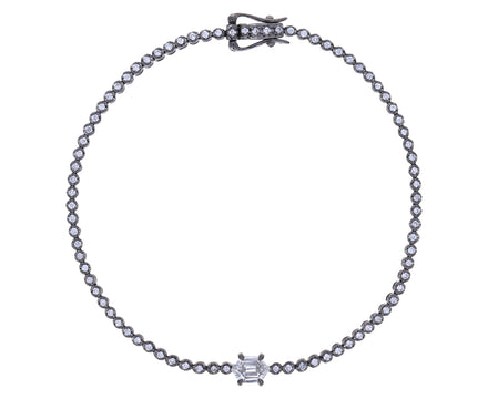 Hexagon Diamond Tennis Bracelet