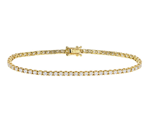 White Diamond Line Bracelet