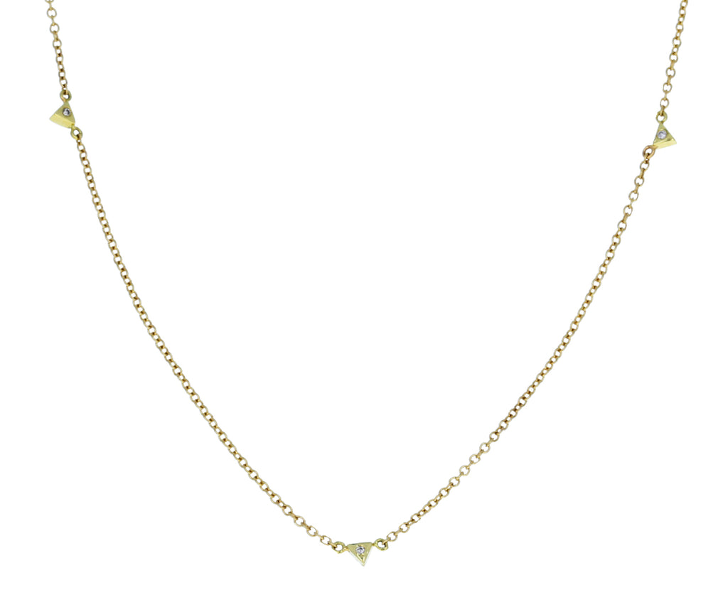 Champagne Diamond Spike Jag Necklace