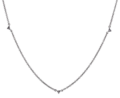 Gray Diamond Spike Chain Necklace - TWISTonline