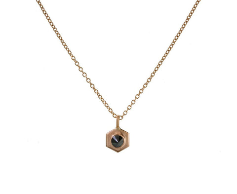 Black Diamond Bolt Necklace zoom 1
