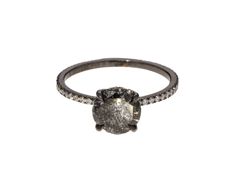 Gray Galaxy Diamond Classic Solitaire - TWISTonline