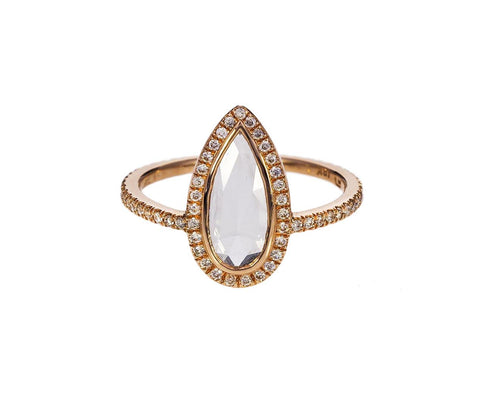 Classic Pear Shaped Diamond Solitaire zoom 1_eva_fehren_rose_gold_pear_shaped_diamond_ring