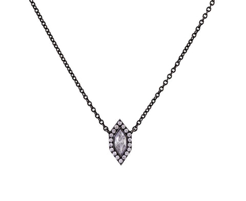 Diamond Eye Pendant Necklace zoom 1_eva_fehren_designer_blackened_white_gold_diamond