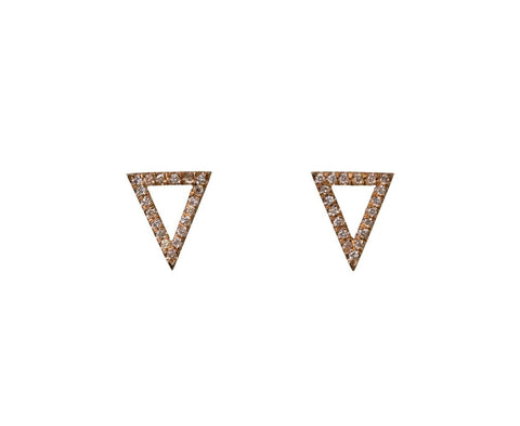 Diamond Pavé Apex Earrings zoom 1