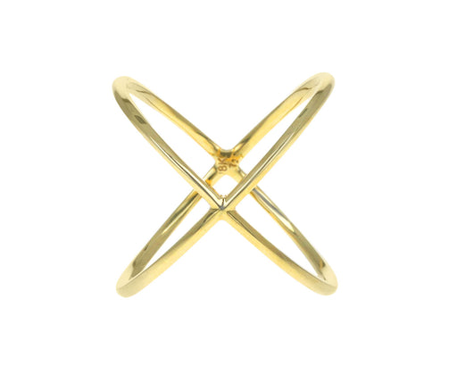 Yellow Gold 'X' Ring
