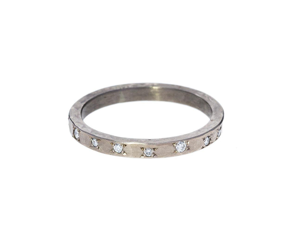 Hammered Diamond Stack Ring zoom 1annie_fensterstock_gold_diamond_hammered_ring